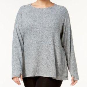 Calvin Klein Plus Size Sweatshirt Stone